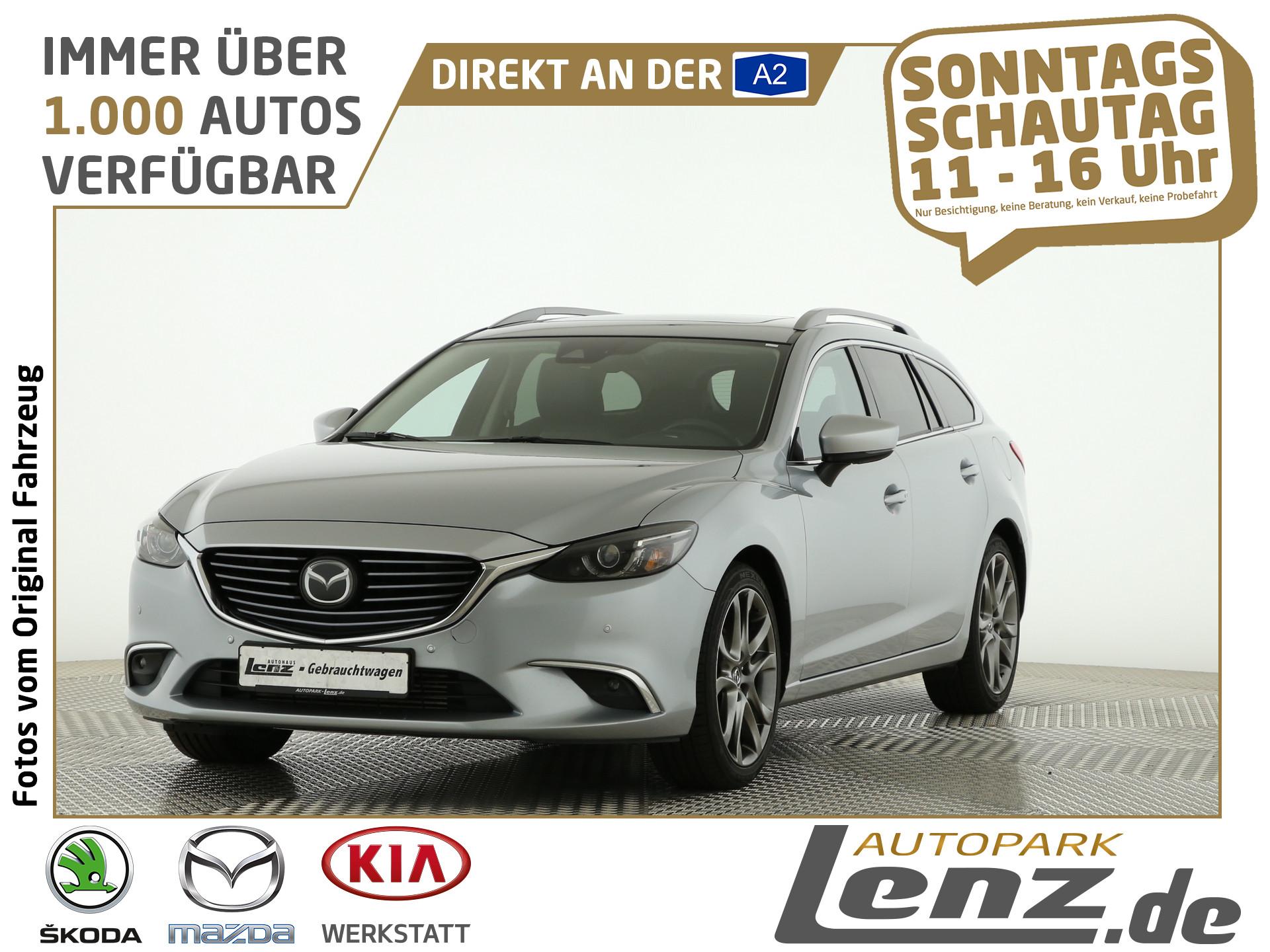 Mazda 6 Kombi Kizoku Intense LED Navi AHK Leder HUD LM, Jahr 2016, Diesel