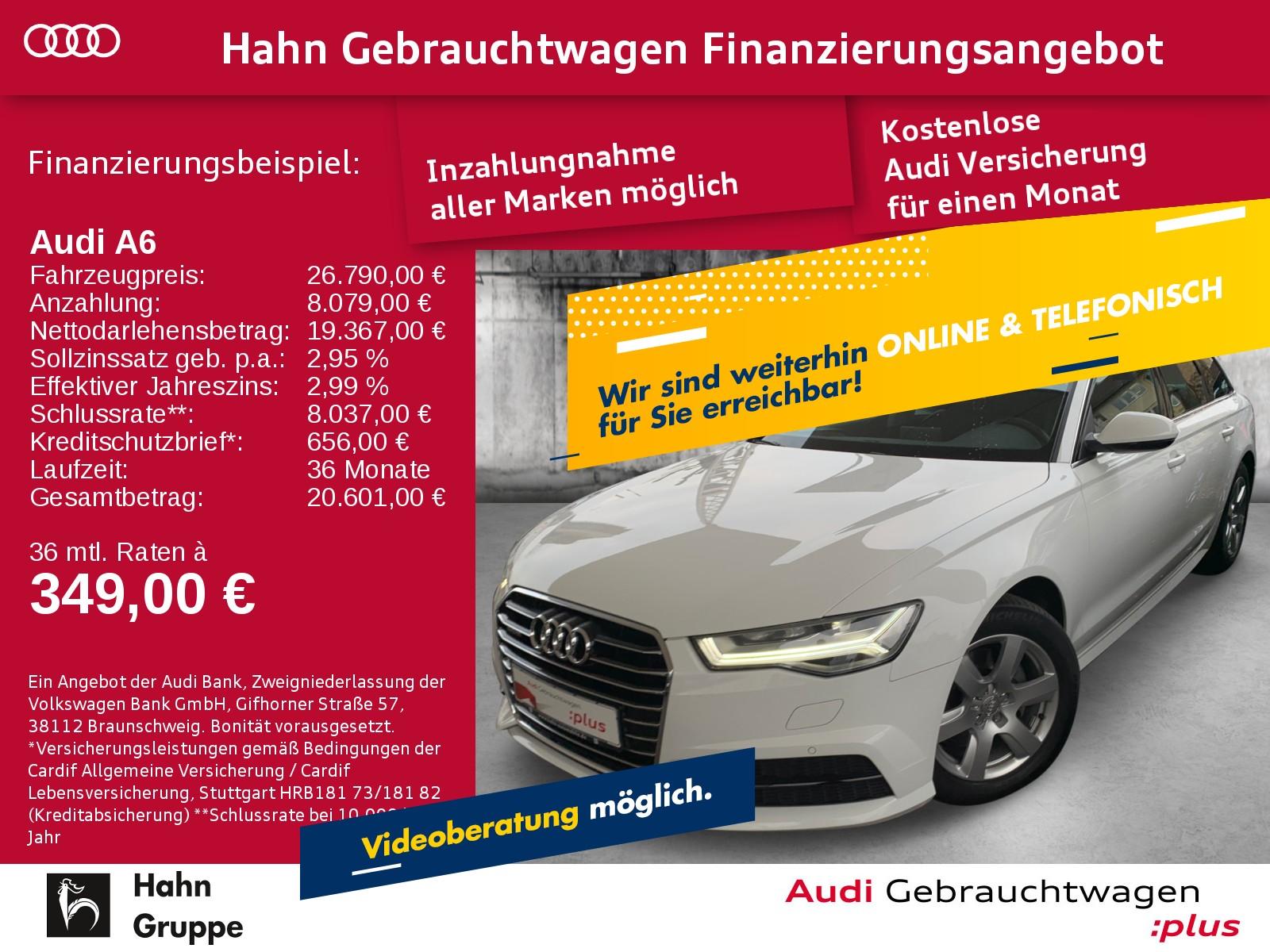 Audi A6 Avant 2.0TDI qua. Navi AHK LED CAM Pano Sitzh, Jahr 2017, Diesel