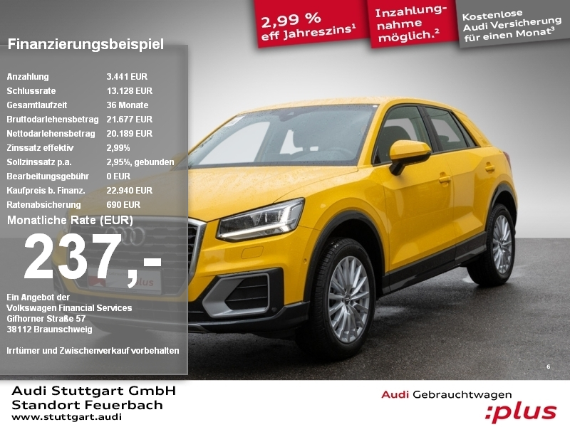Audi Q2 Design 1.0 TFSI S tronic Kamera LED ACC Navi, Jahr 2018, Benzin