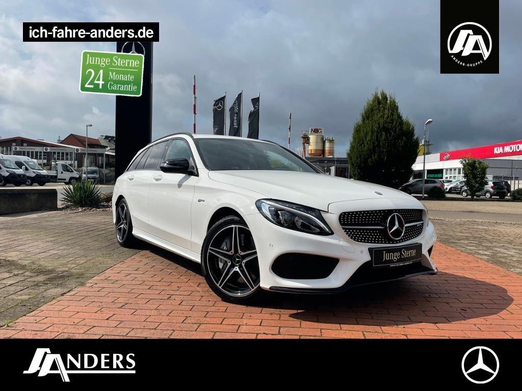 Mercedes-Benz C 43 AMG 4M T AMG+Navi+SHZ+LED+Kamera+AHK+Night, Jahr 2017, Benzin