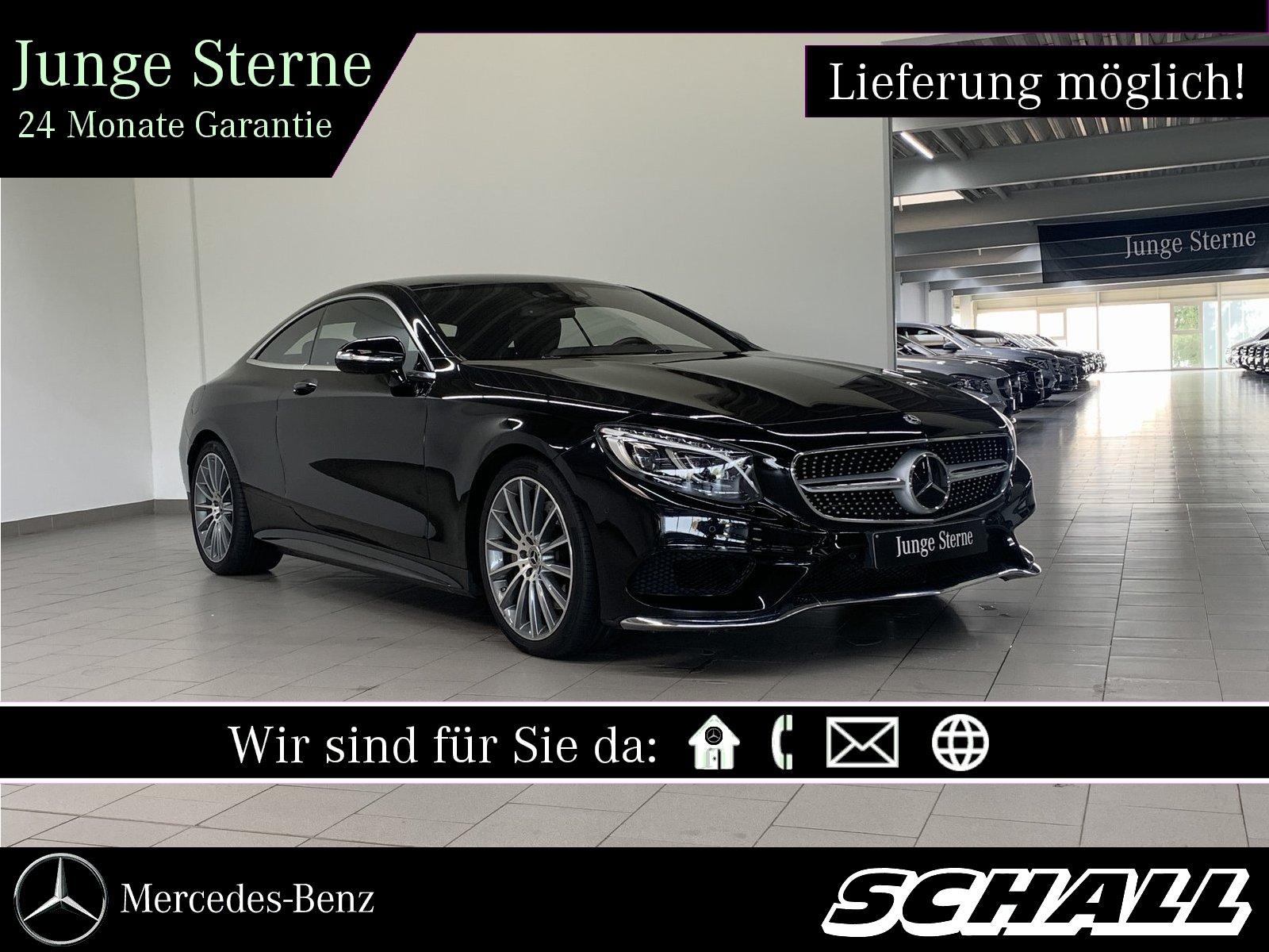 Mercedes-Benz S 400 4M Coupé 7G+AMG+LED+PANO+DISTRONIC+360°, Jahr 2017, Benzin