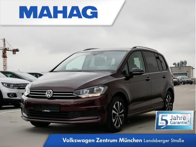 """Volkswagen Touran IQ.DRIVE 1.0 TSI 6-Gang - 7-Sitzer - Standheizung und -lüftung - Parklenkassistent """"Park Assist"""" inkl. Einparkhilfe - Spurwechselassistent """"Side Assist Plus"""" inkl. Spurhalteassistent """"Lane Assist"""" und Ausparkassistent - Navigationssystem, Jahr 2019, petrol"""