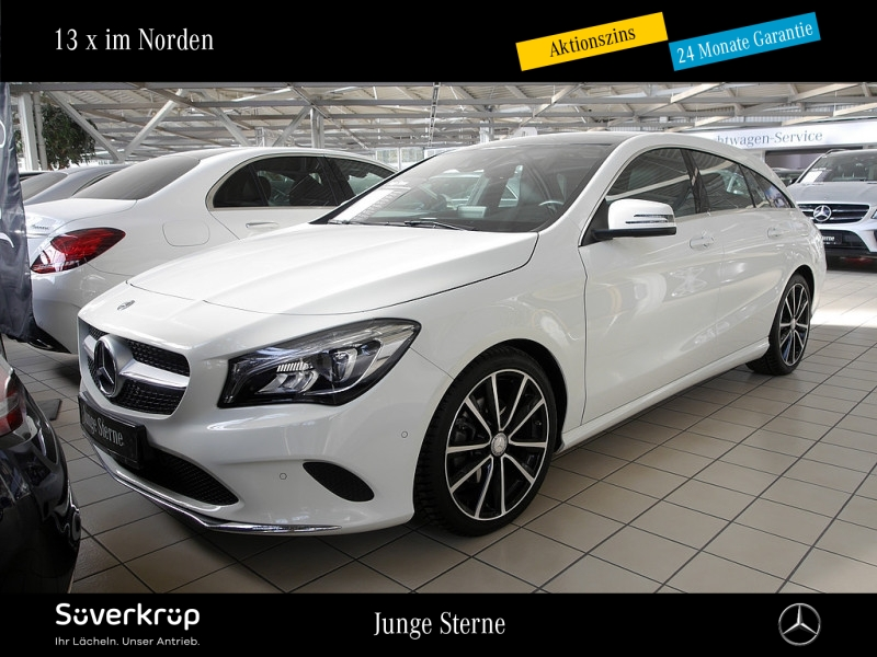Mercedes-Benz CLA 200 Shooting Brake Urban Pano.-Dach/LED/AHK, Jahr 2017, Benzin