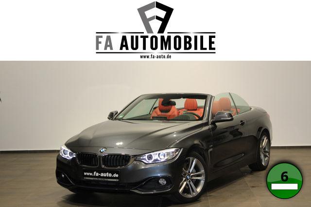 BMW 440i Cabrio Sport Line Navi Leder Kamera Head Up, Jahr 2016, petrol