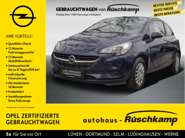 Opel Corsa E Selection 1.2 RDC Klima ESP Seitenairb. ABS Servo, Jahr 2016, Benzin