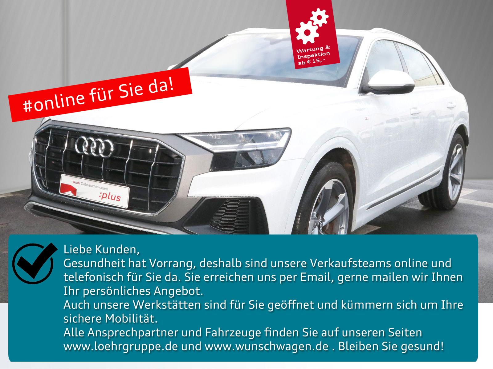 Audi Q8 50 TDI quattro tiptronic S-Line AHK Standhzg., Jahr 2018, Diesel