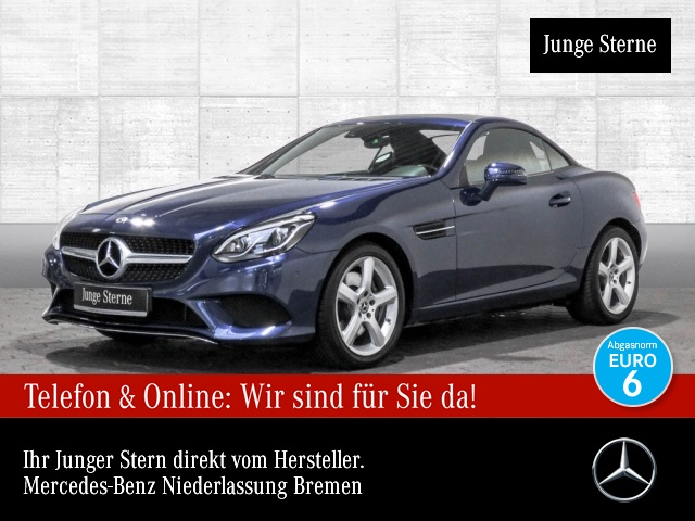 Mercedes-Benz SLC 200 Pano ILS LED Navi Totwinkel PTS 9G Sitzh, Jahr 2018, Benzin