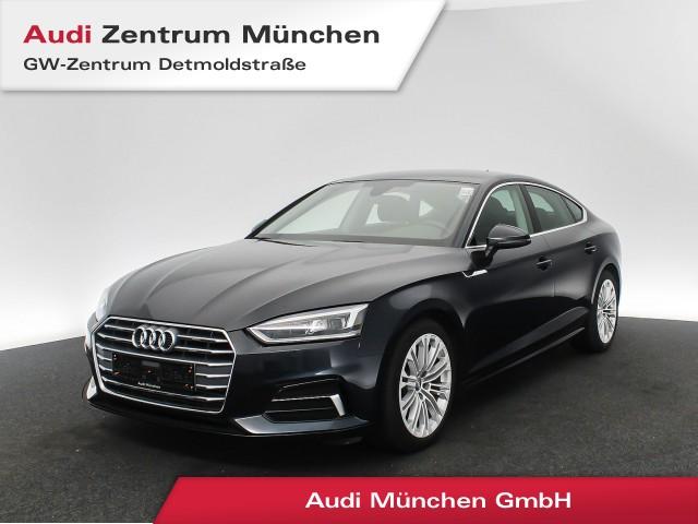 "Audi A5 Sportback 2.0 TFSI Sport AHK Standhz. LED Navi el.Heckklappe 18"" S tronic, Jahr 2018, petrol"