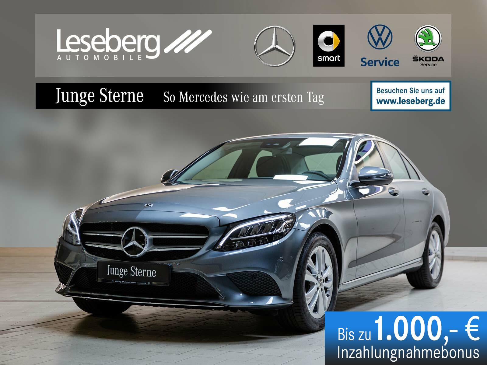 Mercedes-Benz C 180 Avantgarde/9G/AHK/LED/Kamera/Navi/Sitzheiz, Jahr 2019, Benzin