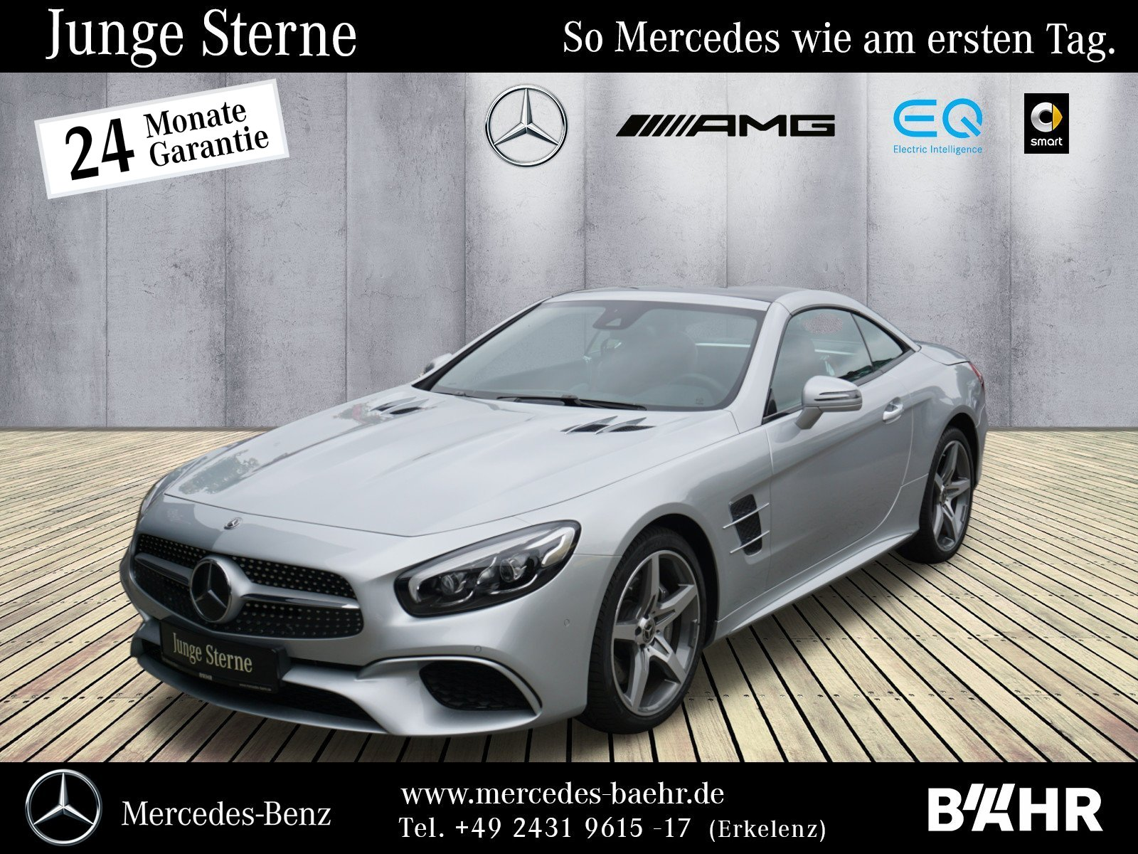 Mercedes-Benz SL 400 AMG/Comand/LED-ILS/Airscarf/HarmanKardon, Jahr 2016, Benzin