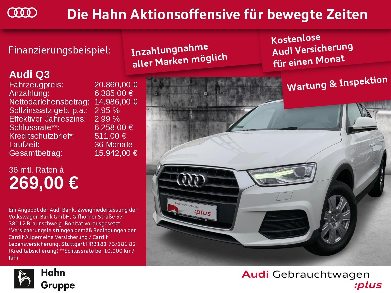 Audi Q3 1.4TFSI XEN+ SitzH EinparkH KlimaA, Jahr 2017, Benzin