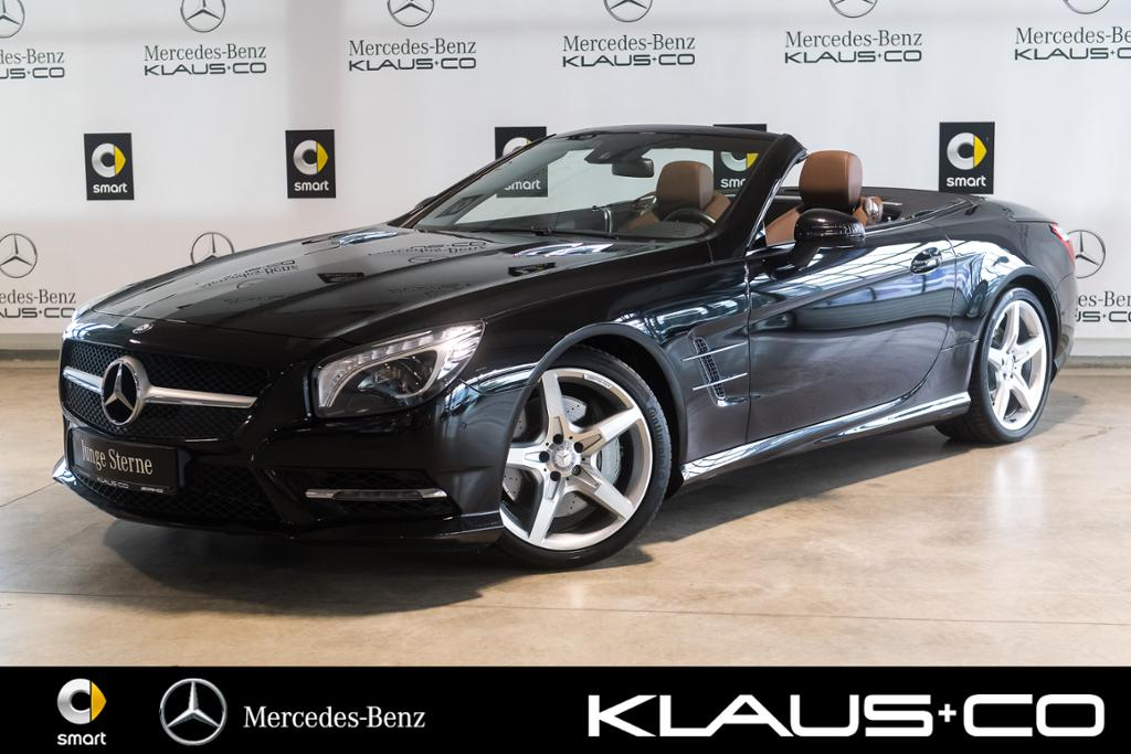 Mercedes-Benz SL 350 AMG Line Harman+Sitzklima+Comand+Kamera, Jahr 2013, petrol