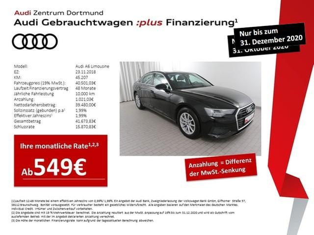 Audi A6 Limousine 45TDI qu. ACC/Navi+/STHZ/Leder, Jahr 2018, Diesel