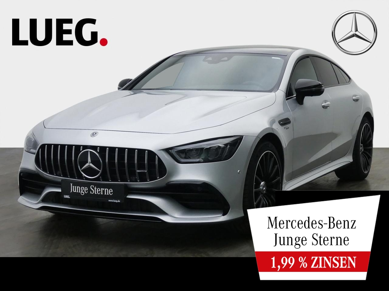 Mercedes-Benz AMG GT 43 4M+ COM+Pano+Burm+Mbeam+Dstr+Sthzg+360, Jahr 2019, Benzin