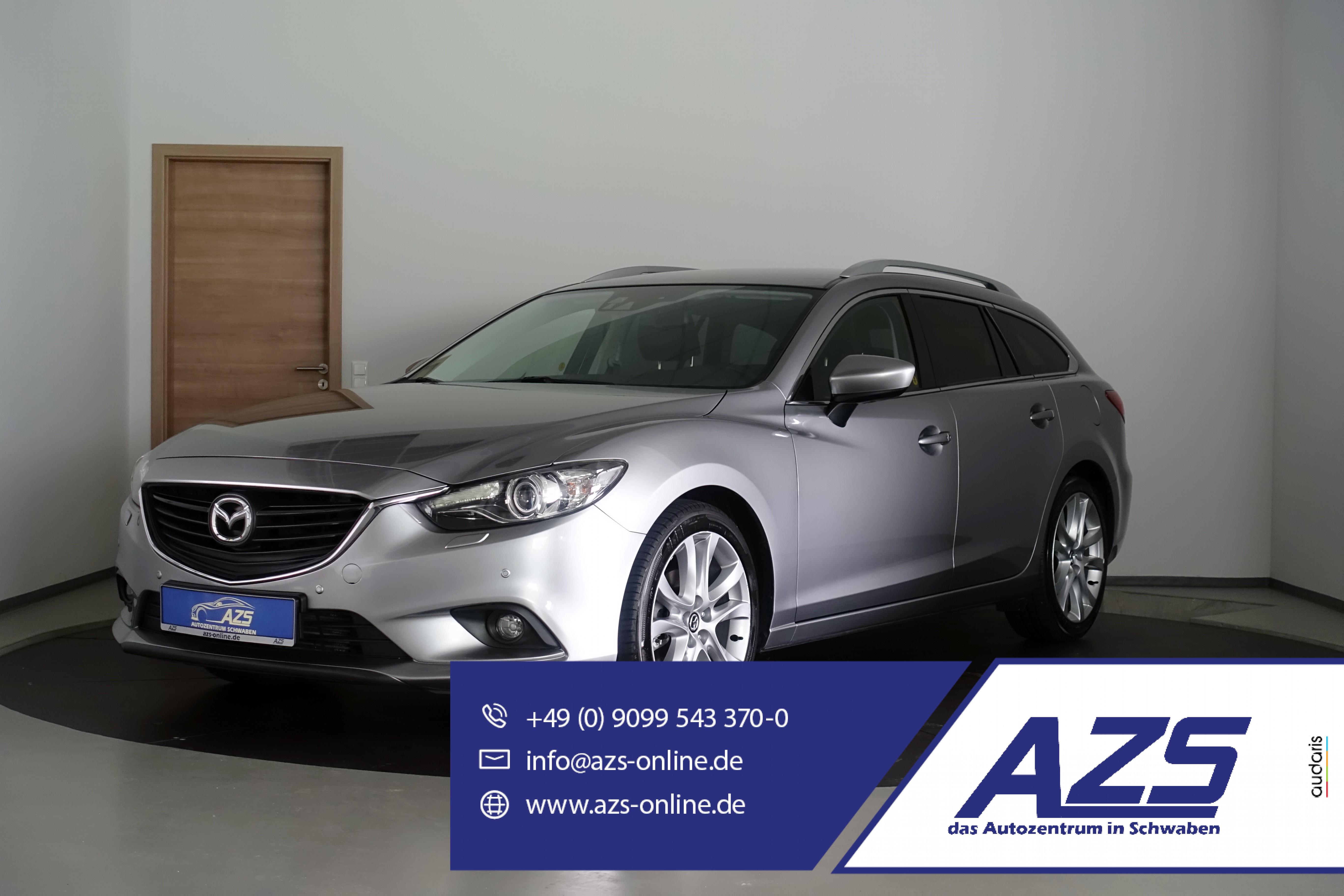 Mazda 6 Sports-Line   Leder   Navi   Bi-Xenon   AHK  , Jahr 2014, Diesel