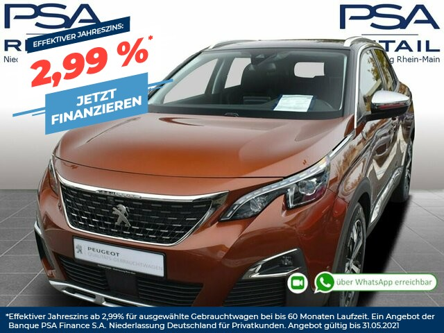 Peugeot 3008 BlueHDi 180 S&S EAT8 Crossway *FullLED*360*ACC, Jahr 2019, Diesel