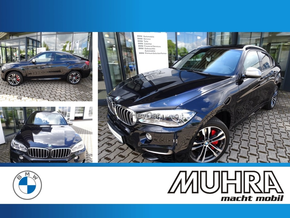 BMW X6 M50d M Sport Glasdach AHK Head Up DAB LED, Jahr 2016, Diesel