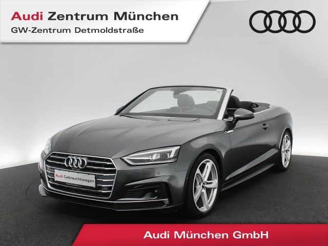 "Audi A5 Cabriolet 2.0 TFSI S line B&O HUD Virtual MatrixLED Leder Assistenz 19"" S tronic, Jahr 2017, petrol"