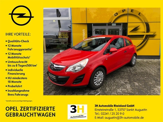 Opel Corsa 1.2 16V (ecoFLEX) Selection*Klima*MP3*, Jahr 2013, Benzin