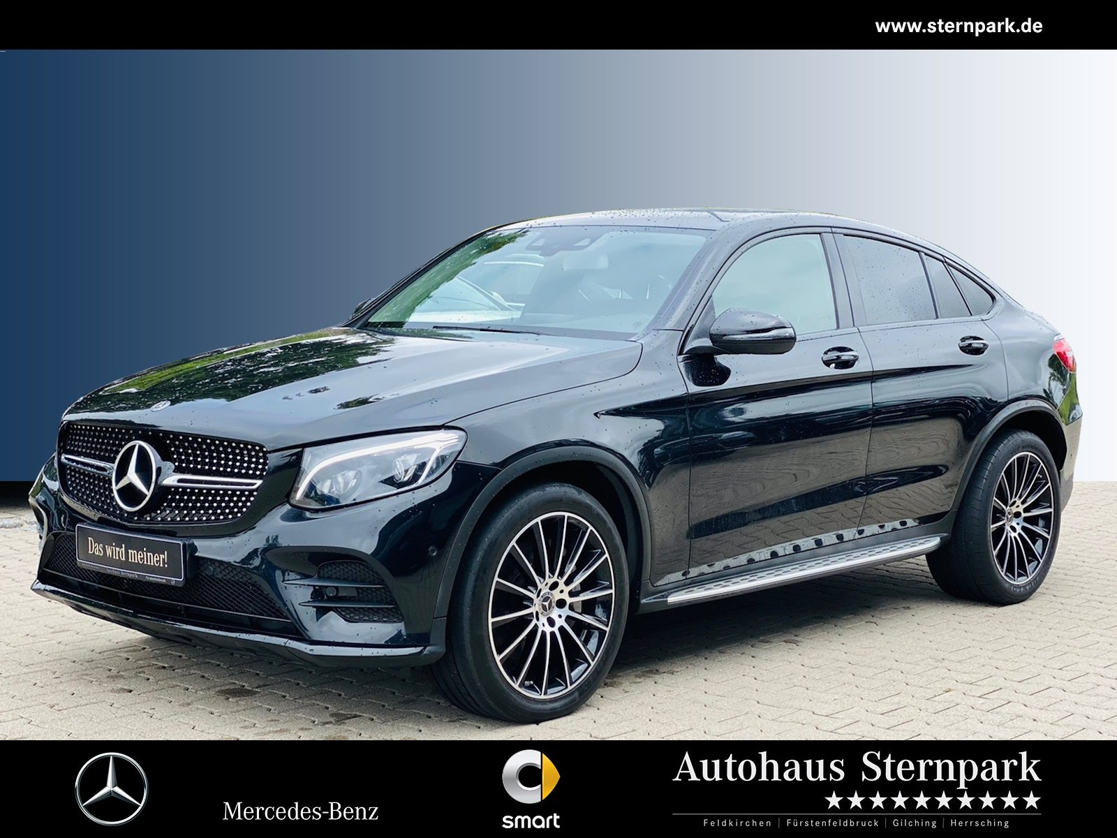 Mercedes-Benz GLC 300 4M Coupé AMG COMAND/Night/HUD/Kamera/LED, Jahr 2018, Benzin