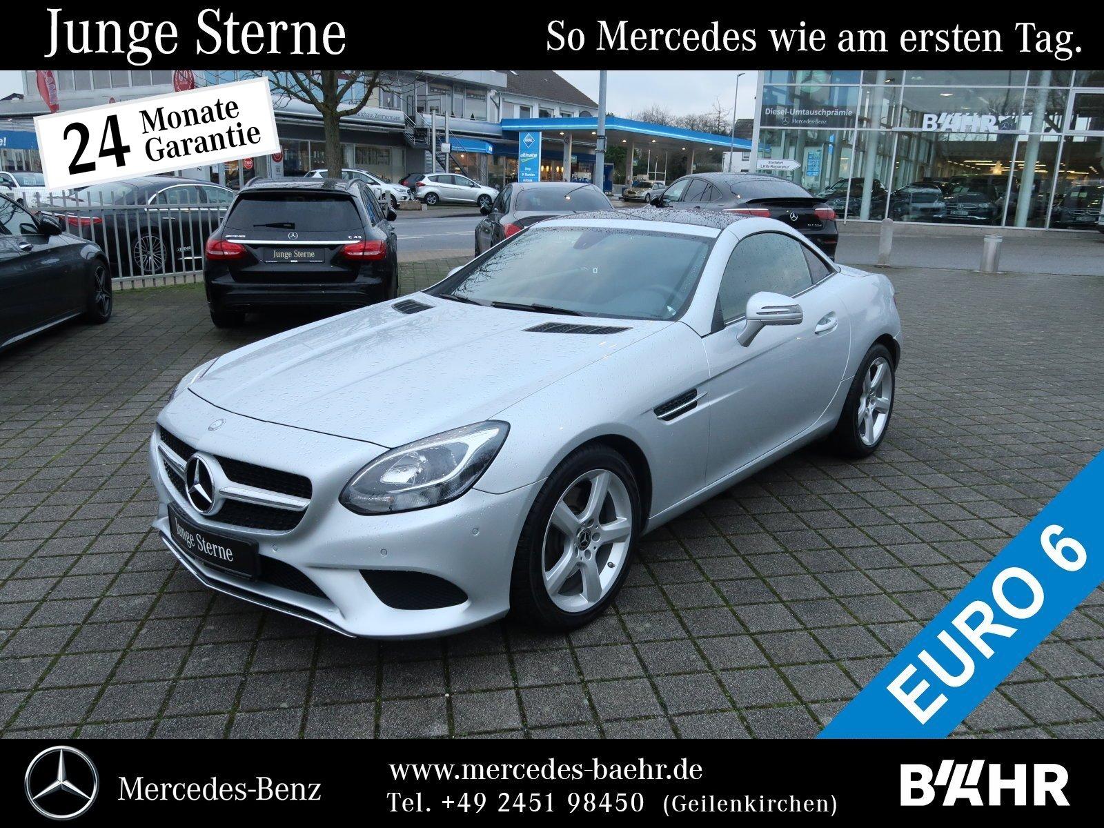 "Mercedes-Benz SLC 200 Navi/Airscarf/Totwinkel/SHZ/Park/LMR-17"", Jahr 2017, petrol"