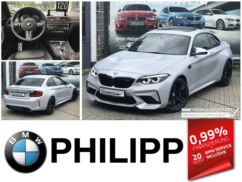 BMW M2 Competition Glasdach CarPlay Navi.ProfDAB h&k, Jahr 2020, Benzin