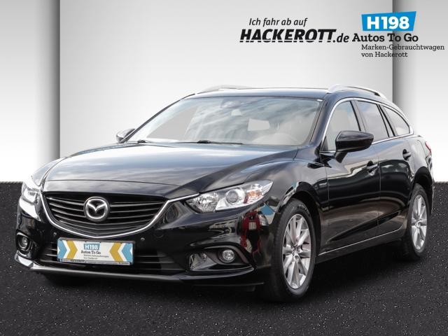 Mazda 6 Kombi Center-Line 2.0 SKYACTIV-G 15 Navi Keyless PDCv+h Tel.-Vorb. Multif.Lenkrad Klimaautom, Jahr 2014, Benzin
