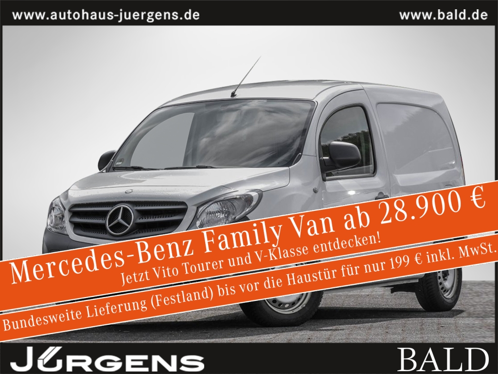 Mercedes-Benz Citan 108 CDI Kastenwagen Worker lang Radio, Jahr 2017, Diesel