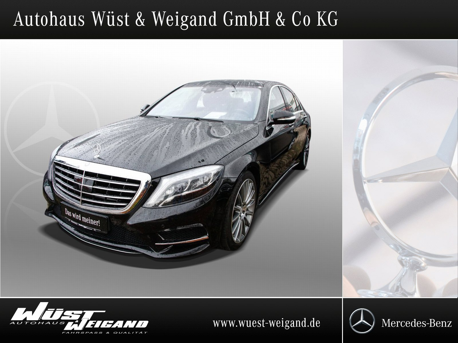 Mercedes-Benz S 500 4Matic AMG-Line+Distronic+Pano+HUD+Memory, Jahr 2015, petrol