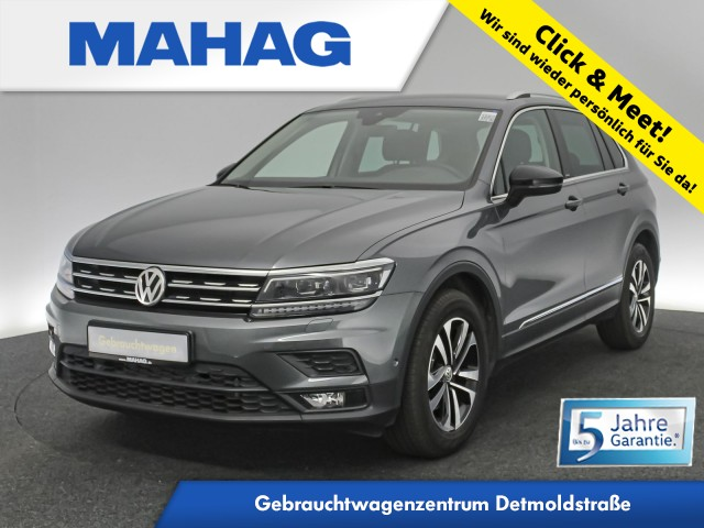 Volkswagen Tiguan 2.0 TDI IQ.DRIVE Navi LED AHK ActiveInfo Keyless Kamera DCC 17Zoll DSG, Jahr 2019, Diesel