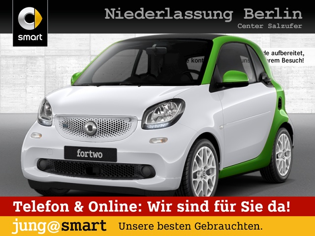 smart fortwo coupé 60kWed cool&Audio Sport Tempom Klima, Jahr 2017, Elektro
