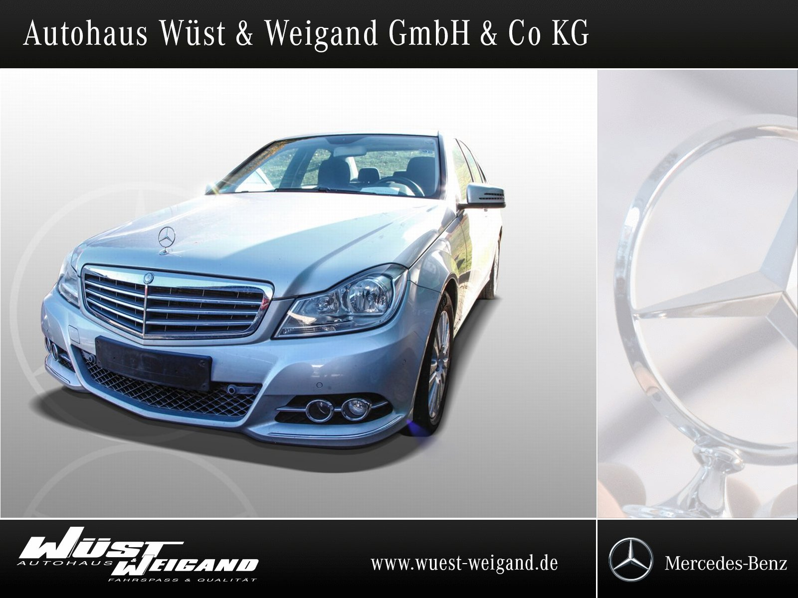 Mercedes-Benz C 200 Elegance Autom.+Navi+PTS+SHZ+Klimaaut., Jahr 2013, Benzin