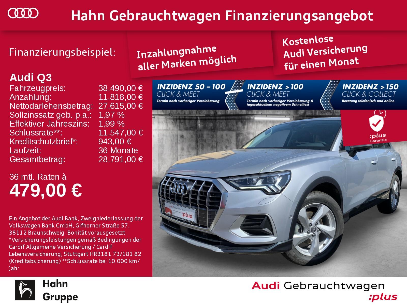 Audi Q3 35 TFSI S-trc Navi LED Sitzh Einpark, Jahr 2020, Benzin
