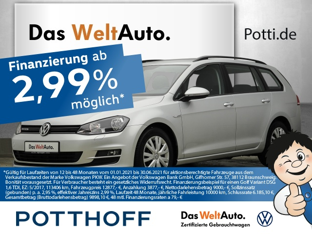 Volkswagen Golf Variant 7 VII 1.6 TDI BlueMotion Business Tel, Jahr 2015, Diesel