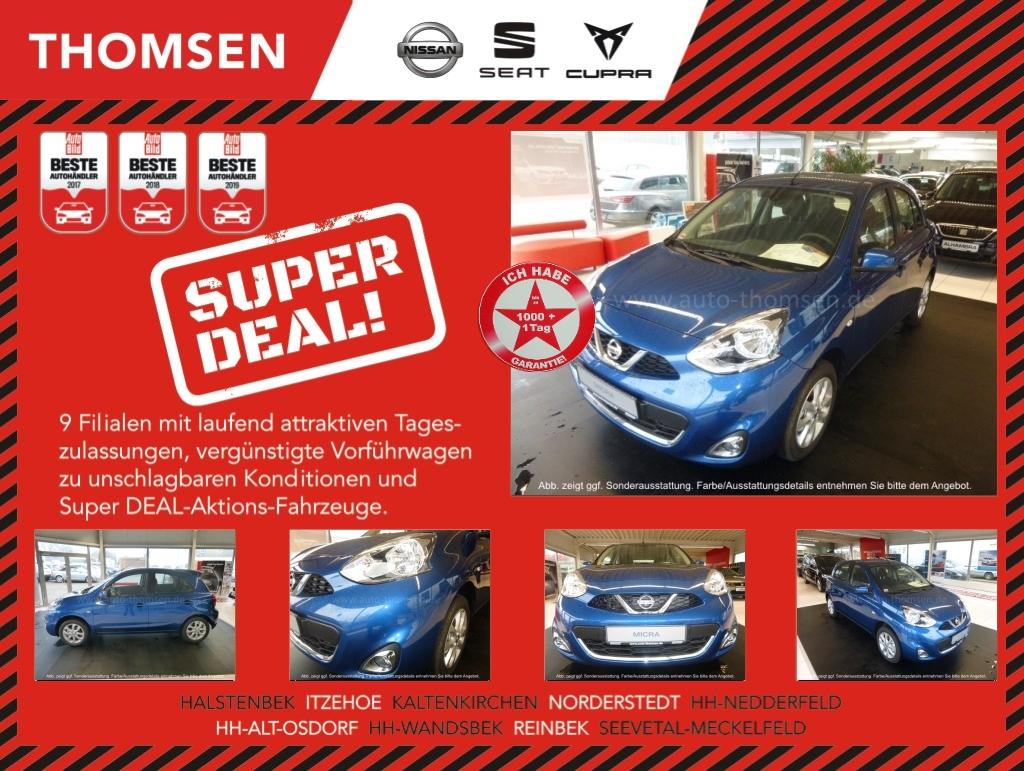 Nissan Micra Acenta Klimaaut.-Bluetooth-LM15-Sitzhzg., Jahr 2015, Benzin