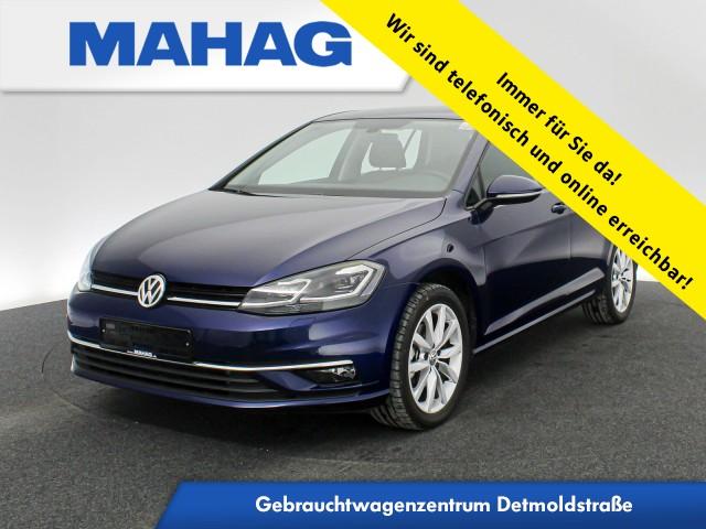 Volkswagen Golf VII 2.0 TDI Highline Navi LED Sitzhz. ParkPilot LightAssist FrontAssist 17Zoll 6-Gang, Jahr 2019, Diesel