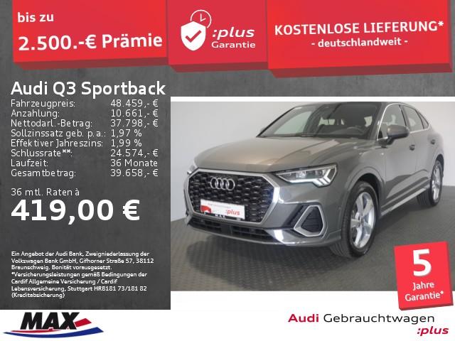Audi Q3 Sportback 40 TDI QUATTRO S LINE LED+PANO+AHK+, Jahr 2020, Diesel