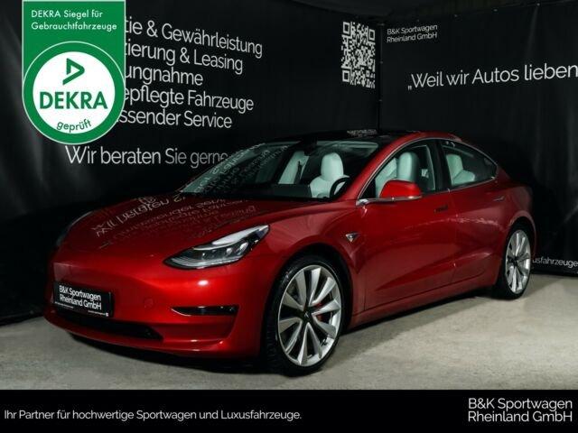 "Tesla Model 3 AWD Performance 20""/PANO/PREMIUM/AP/RED, Jahr 2019, Elektro"