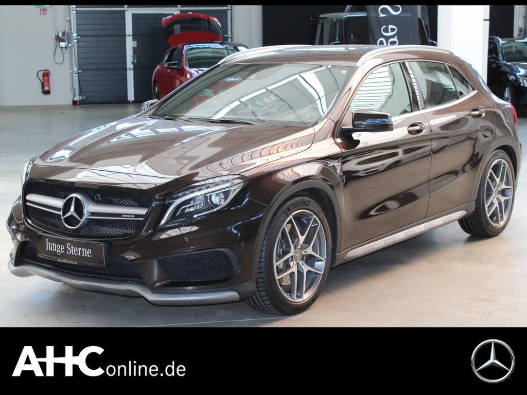 Mercedes-Benz GLA 45 AMG 4M BI+XENON+NAVI+SPUR-P.+KAMERA..., Jahr 2015, Benzin