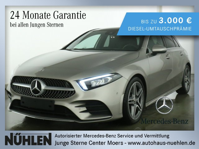 Mercedes-Benz A 220 Kompaktlimousine AMG Line+LED+Pano-Dach+BC, Jahr 2019, Benzin