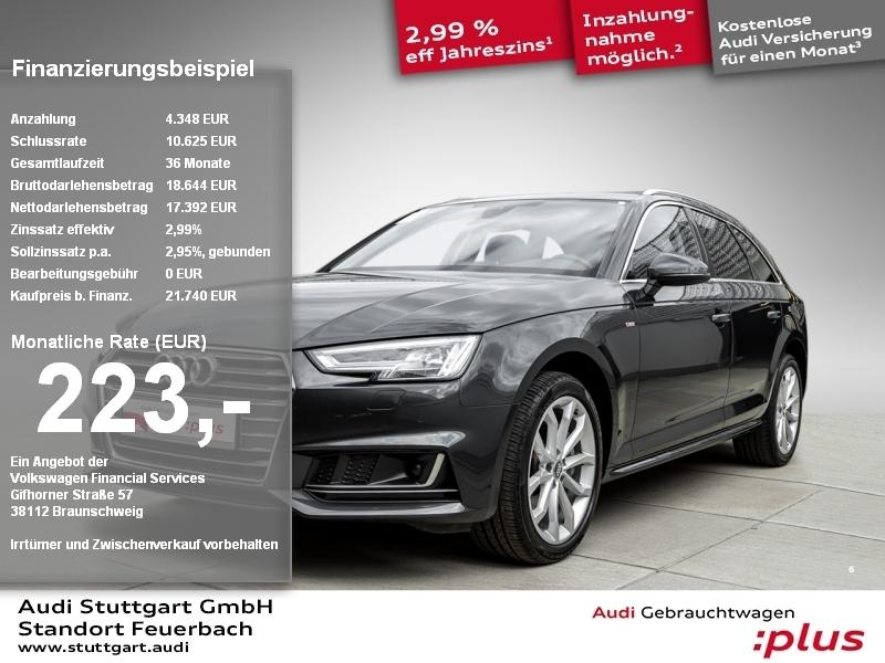 Audi A4 Avant sport 2.0 TDI S line Kamera Navi LED, Jahr 2017, Diesel