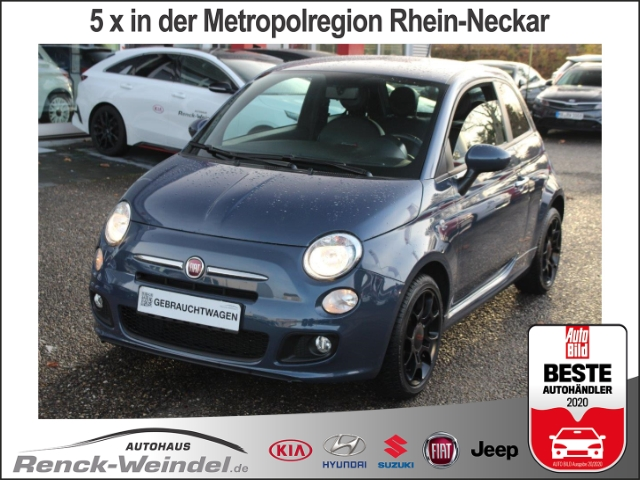 Fiat 500S Klima Alu PDC BT CD Freisprech MP3 Radio Spieg. beheizbar eFH Multif.Lenkrad, Jahr 2013, Benzin