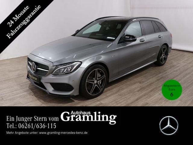 Mercedes-Benz C 450 AMG T 4M NIGHT*Distr*360°*Pano*HUD*AHK*ILS, Jahr 2015, Benzin