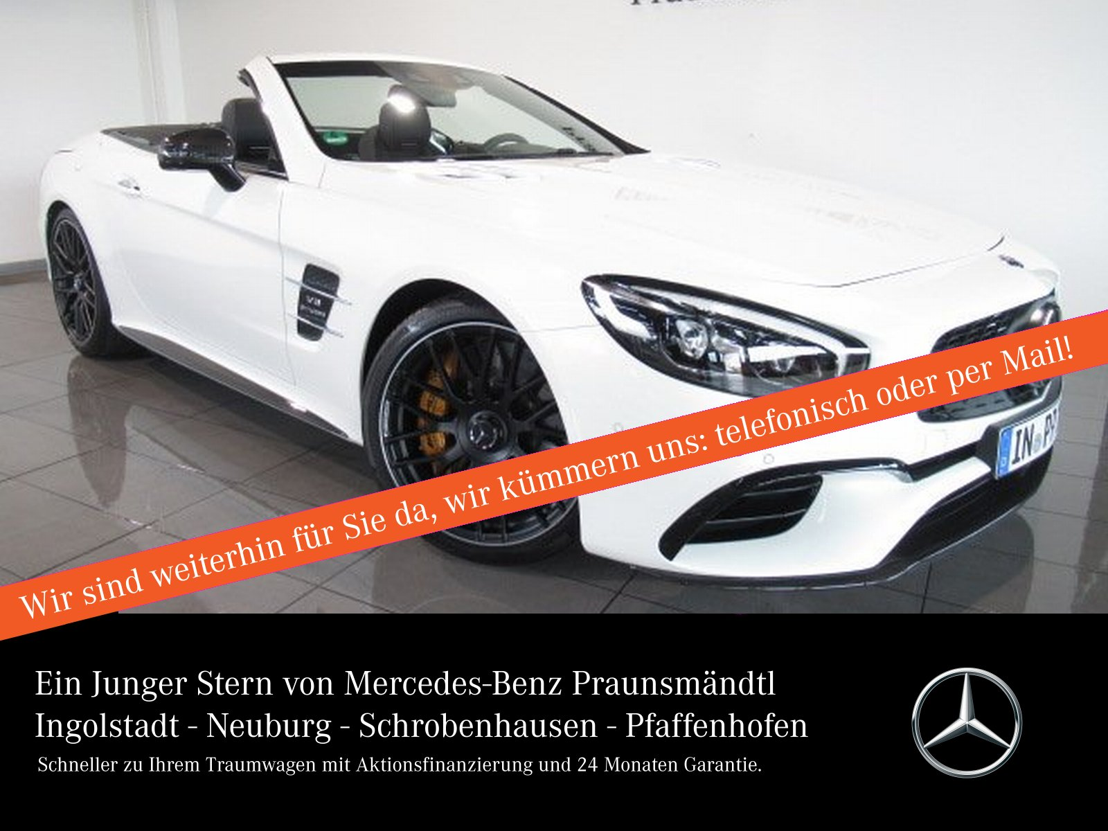 Mercedes-Benz SL 63 AMG Keramik/DISTRONIC/Vmax/B&O/Carbon/KeyG, Jahr 2018, Benzin