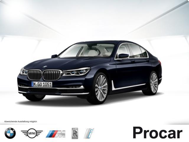 BMW 750i xDrive Glasd B&W 20'' Massage Standhz Laser, Jahr 2016, petrol