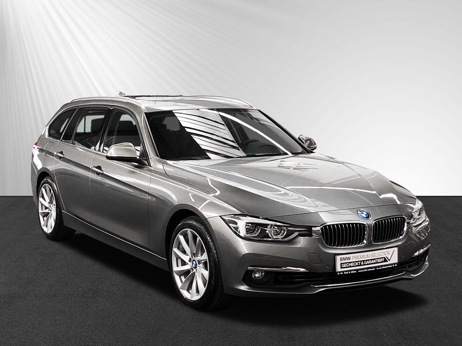 BMW 340i xDrive Touring Luxury Line Aut. AHK LED PDC, Jahr 2015, petrol