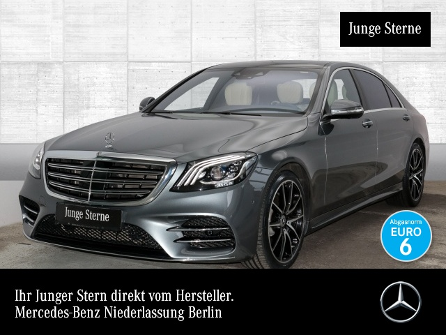 Mercedes-Benz S 560 L 4M AMG Plus Excl. Fahras Fondent Airmat, Jahr 2017, petrol