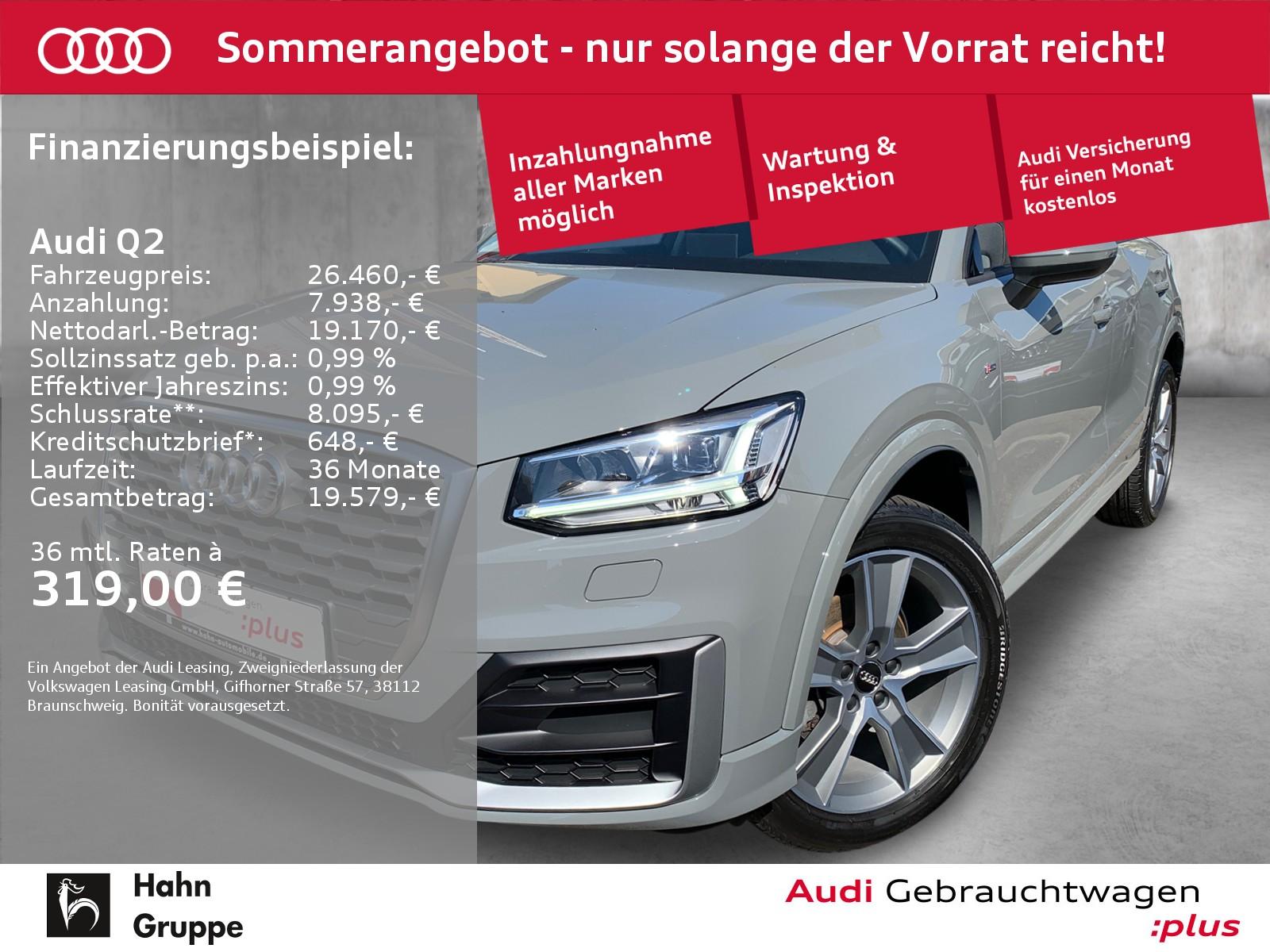 Audi Q2 30 TFSI S-line Navi LED Sitzh Einpark Tempo, Jahr 2020, Benzin