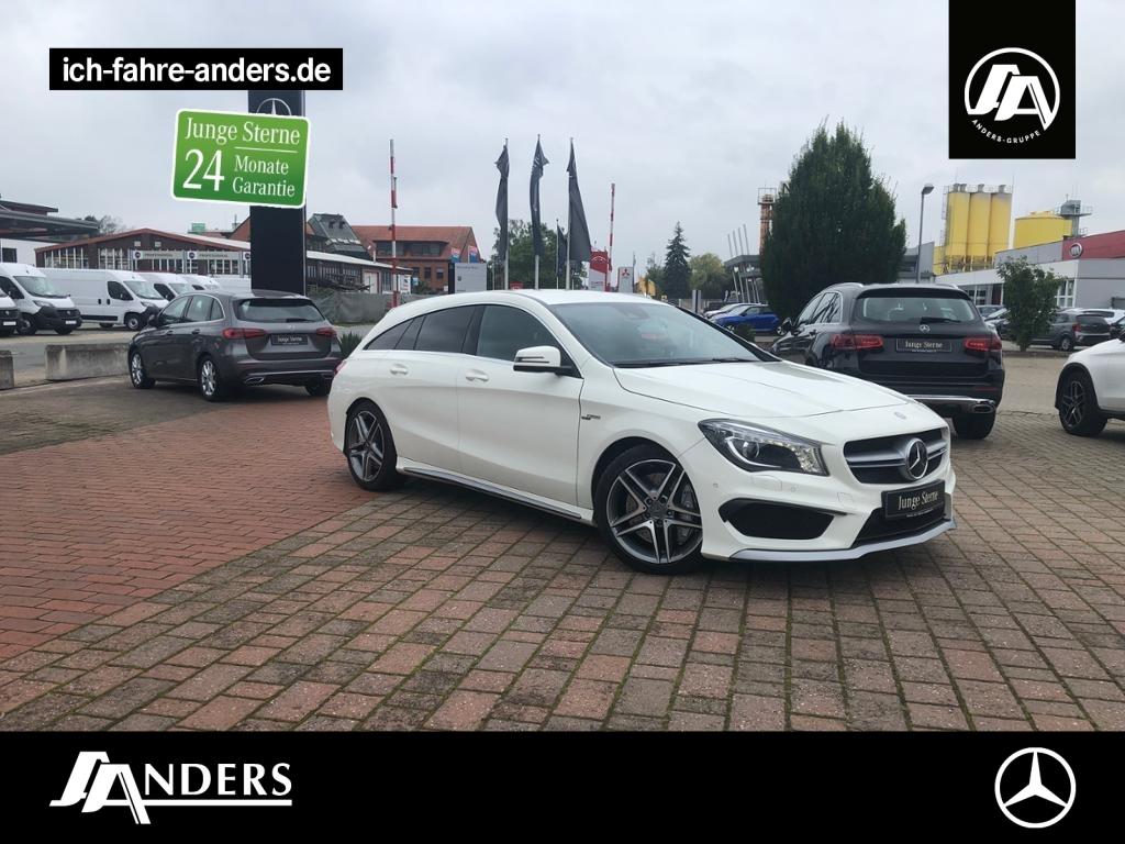 Mercedes-Benz CLA 45 AMG 4M SB Navi+SHZ+Bi-Xenon+Distr+Spur-P., Jahr 2015, Benzin