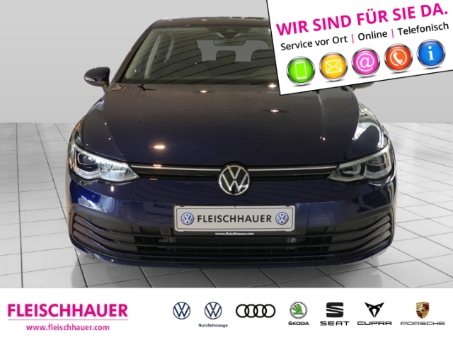 Volkswagen Golf VIII Life 2.0 TDI EU6d-T NAVI ACC, Jahr 2020, Diesel